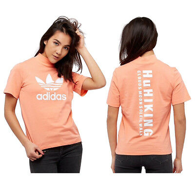06b8efc0 adidas Originals Womens Pharrell Williams HU Hiking Logo T-Shirt Tee Top New