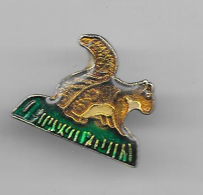 Vintage Golden Squirrel in the Grass old enamel pin