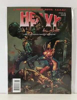 Heavy Metal Magazine Volume 20 #6 January 1997 Bisley Caza Lawrence Rubio Prado