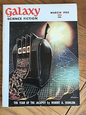Galaxy - US Digest pulp vintage classic SF - March 1952 - Robert A. Heinlein etc