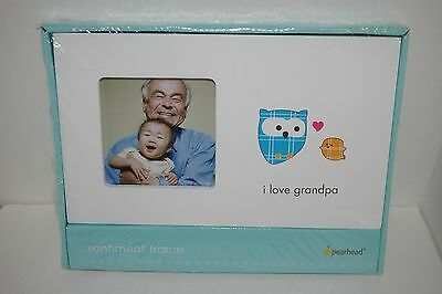 Pearhead Sentiment Frame - I Love Grandpa White NEW!