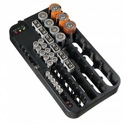 Massca Battery Organizer with Battery Tester, Battery Caddy AA AAA Battery Ho...