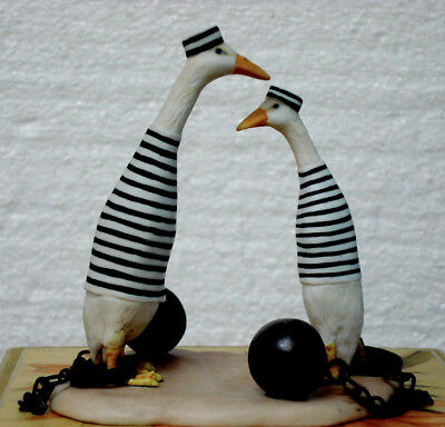 Jail Birds  figurine by Will Bullas - porceline in excellent condition