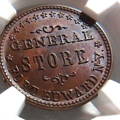 """HIGH GRADE - FT. EDWARD NEW YORK """" GENERAL STORE """"  270A - 1a  NGC MS - 65 - NR"""