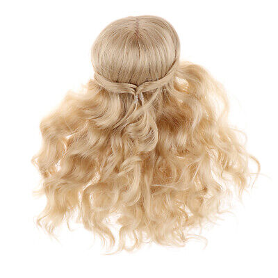 1/6 BJD Dolls Hair Long Curly Wig Hairpiece Blonde For SD DZ DOD LUTS Dolls