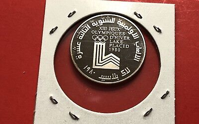 Lebanon -1Livre Cu-Ni Proof Coin -Winter Olympic -1980 .high Grade Condition.