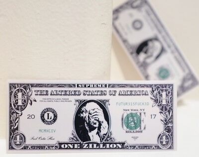 One Zillion Debt Spoof US Dollar Bill Note 10x4cm DECAL STICKER #4708