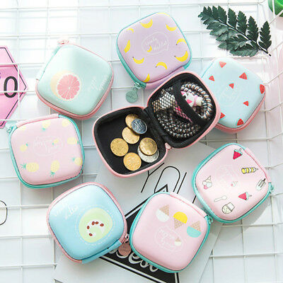 Earphone SD Card Storage Box Headphone Earbuds USB Cable Case Bag Cute Pattern