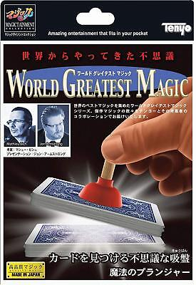 Tenyo Magic World Greatest Magical Plunger Card Sucker from JAPAN