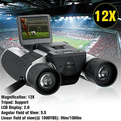 HD Digital Binoculars Telescope 12x32 Folding with Built-in Digital Camera DV