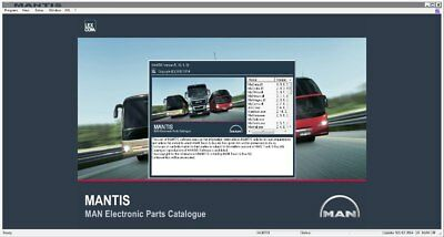 Man mantis 2017 EPC software for trucks tructors, buses engines