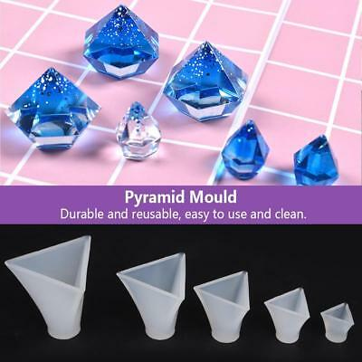 5pcs Pyramid Silicone Mold For Resin Jewelry Crafts Making Mould Tool Mold Set