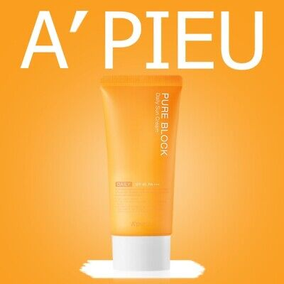 NEW [Renewal] A'PIEU Pure Block Natural Daily Sun Cream 50ml SPF45+ / PA+++
