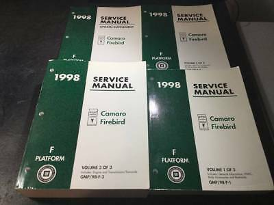 1998 Camaro Firebird Trans Am Shop Manual Lot Z28 SS Formula SLP Firehawk LS1