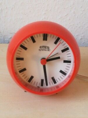 Wecker EMES synchro 80 - 70´s Pop Art Design - alarm clock   space Age orange