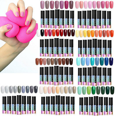 90Farbe UV&LED Gel Nagellack Set UV Primer Sealer Nail Art Maniküre Kit Tips DIY