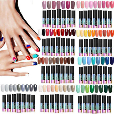 LILYCUTE UV Gel Nail Polish Set Soak Off Primer Sealer Nail Art Manicure Varnish