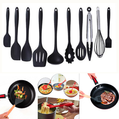 Heat Resistant Silicone Cookware Nonstick Cooking Tools Kitchen Utensils 9 Style