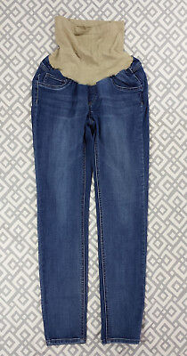 Jessica Simpson Blue Jean Dean Maternity Pants Stretch Belly Panel Sz Small S