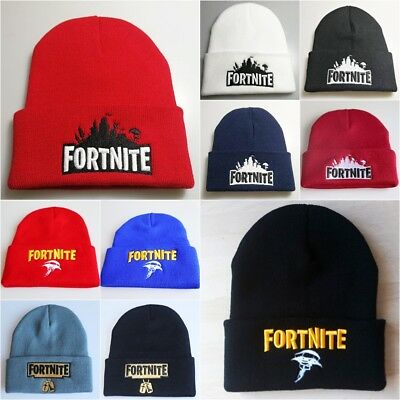 83d43c778da Kids Boys Fortnite Hats Boys Slouch Knitted Turn Up Embroidered Logo Hip  Hop Hat
