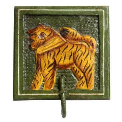 Stylish Hand Carved Mango Wood with Lion design Coat and Hat Hook