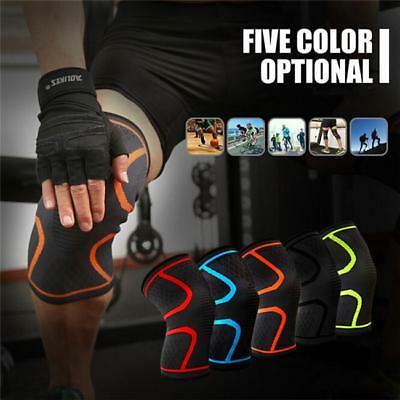 Knee Compression Support Brace Running Sleeve Wrap protector Sports Leg Wrap BS