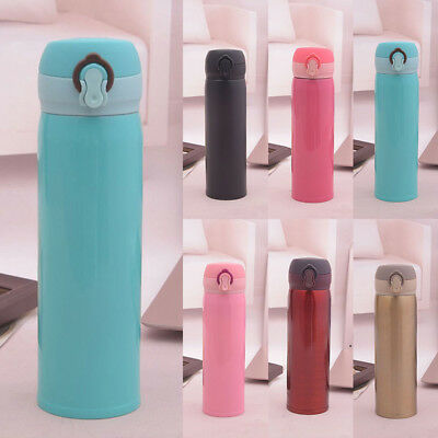 500ml Stainless Steel Vacuum Cup Thermos Travel Insulated Mug Water Bottle