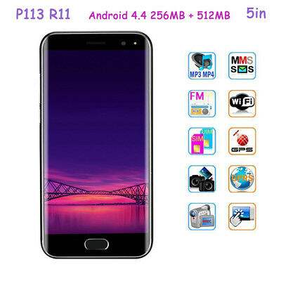 P113 R11 5in 3G Smartphone GPS WIFI Android 4.4 256MB + 512MB w/ Dual SIM Card