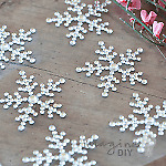 Elsa Crystal Snowflake Crystals. Sheet of 6. Snowflake self adhesive crystals