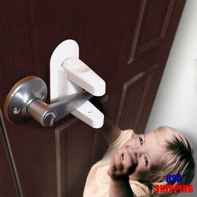 Child Safety - Door Lever Lock (2 Pack) Child Proof Doors & Handles 3M Adhesive
