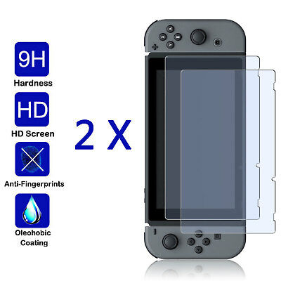 2-Pack Glass For Nintendo Switch Premium Tempered Glass Screen Protector