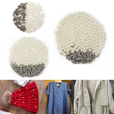 200/400pcs Pearl Rivets Button Leathercrafts Garment for Cloth Pant Hat Bag DIY