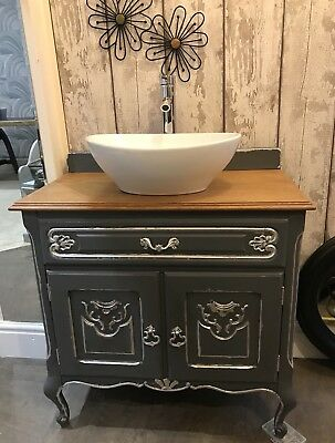 Unusual French Style Shabby Chic Bathroom Vanity Unit Sink Tap