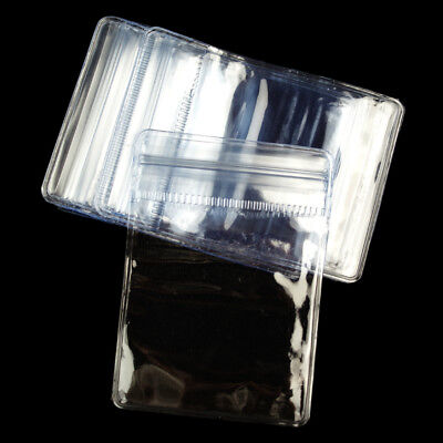 10/20/50x Zipper Clear Grip Seal Bags Poly Plastic Transparent Zip Lock Pouches