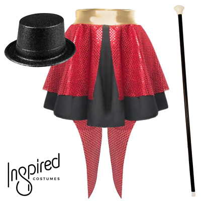 Girls The Greatest Showman Costume Sequin Ringleader Tails Skirt