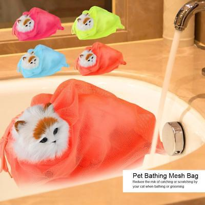Cat Grooming Bathing Mesh Bag Pet Shower Washing Nails Cutting Ear Cleaning Tool