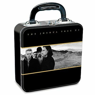 U2 Collectible: 2010 Vandor The Joshua Tree Album Artwork Tin Tote Lunch Box