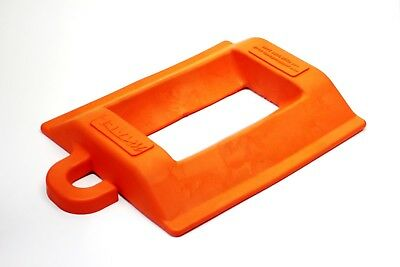 Pallet Truck Chock Stop Holder For Warehouse Lorry Van Wagon - Hi-Viz Orange
