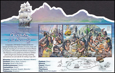 PITCAIRN ISLANDS - 2017 - Miniature Sheet: The Women of the Bounty. Mint NH