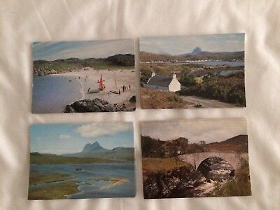 Sutherland Scotland 4 unposted Dixon cards from 70's or 80's
