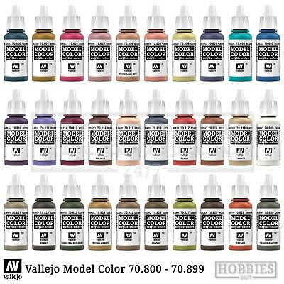 Vallejo Model Color Paints Acrylic War Colours 17ml Bottle 70.800 to 70.999
