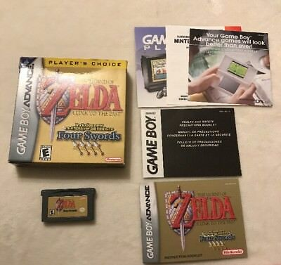 Game Boy Advance Legend Of Zelda Link To The Past Four Swords COMPLETE MANUAL