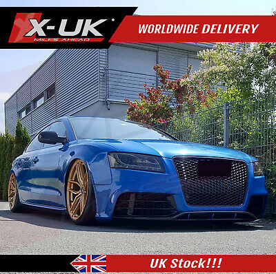 RS5 style front bumper upgrade for Audi A5 / S5 Sportback 2007-2012 with grill
