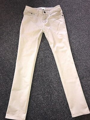Armani Junior Boys Age 10 Slim Leg Beige Chinos Jeans