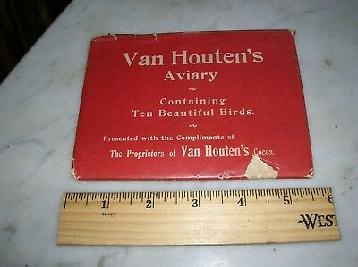 Van Houtens Cocoa Advertising Bird Cards Aviary Complete 10 Cards  Good  59.00