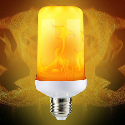 LED Flame Effect Simulated Nature Fire Light Bulb E27 E26 E14 E12 B22 Decor Lamp