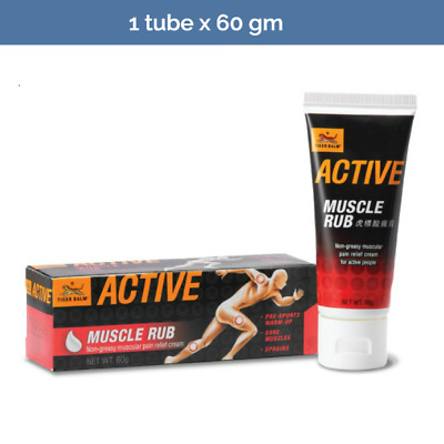 2x TIGER BALM Active Muscle Rub for pre-sport warmup - 60g