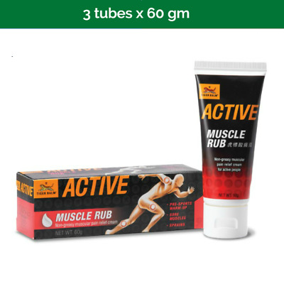 6x TIGER BALM Active Muscle Rub for pre-sport warmup - 60g