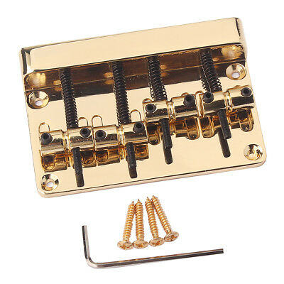 Metal 4 String Bass Bridge Top Load for Fender Precision Jazz Bass Accessory