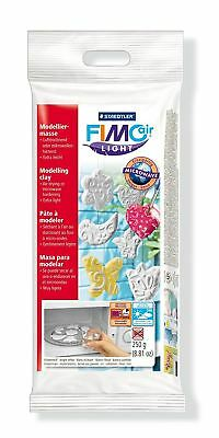 Staedtler Fimo Air Drying or Microwave Hardening Modelling Clay Light 250g White